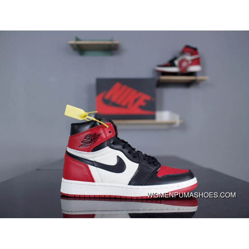 new product 23b5f 9231a Nike Air Jordan 1 Retro High OG 555088-610 Black And Red White Black And  Red Toe Black Toe 1 High True Litchi Grain Leather FULL Grain Leather Type  Hopper ...
