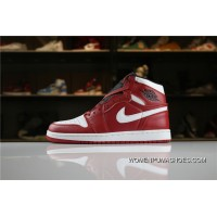 501499840907f5 Jordan Air Super High Quality AJ1 1 High Series SKU 554724-605 White Red New
