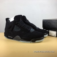 Aj4 Graffiti Black Suede Kaws X Air Jordan 4 Discount