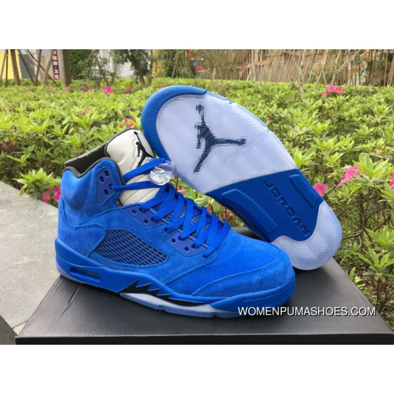 online store a6a92 c869a Air Jordan 5 'Blue Suede' Game Royal/Black Latest