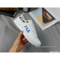 Fila Leather Sneakers White Blue Online