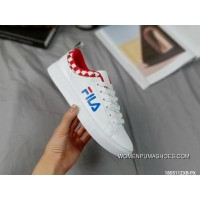 Fila Leather Sneakers White Red Online