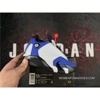 Kids Jordan 14 HI WHITE BLUE Discount