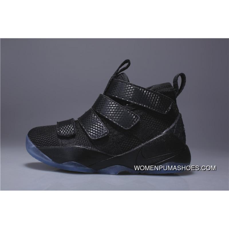 sports shoes 048f7 28378 Kids Nike Lebron Soldier 11 Black 2018 Discount