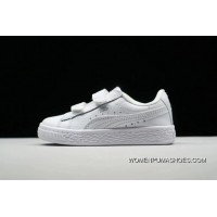 PUMA Suede 2 Straps Inf Little Kids Shoes Casual Sneaker 364653-019 All White New Year Deals