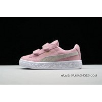 PUMA Suede 2 Straps Inf Little Kids Shoes Casual Sneaker 356274-239 Pink Copuon