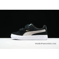 PUMA Suede 2 Straps Inf Little Kids Shoes Casual Sneaker 356274-019 Black New Year Deals