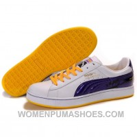 Puma Suede Fat Lace In White-Royal Blue-Yellow Authentic Ajmyn