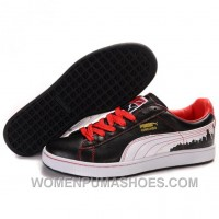 Puma Suede Fat Lace In Black-Red-White Discount JNtbF
