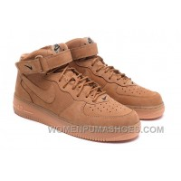 Nike Air Force 1 Mid FLAX 715889-200 Mens 2016 Authentic