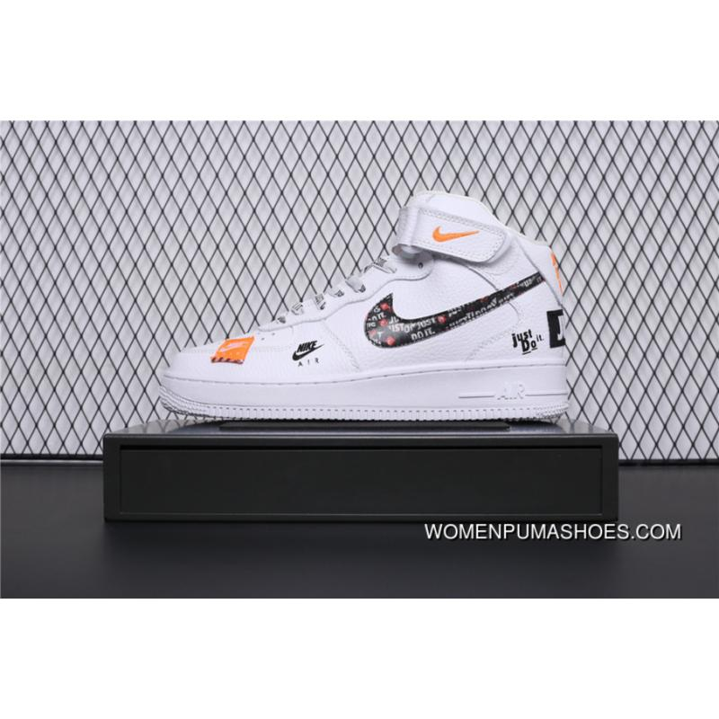 BQ6474 100 Nike Air Force 1 AF1 Just Do It Collaboration Mid Top Casual Sneaker Outlet