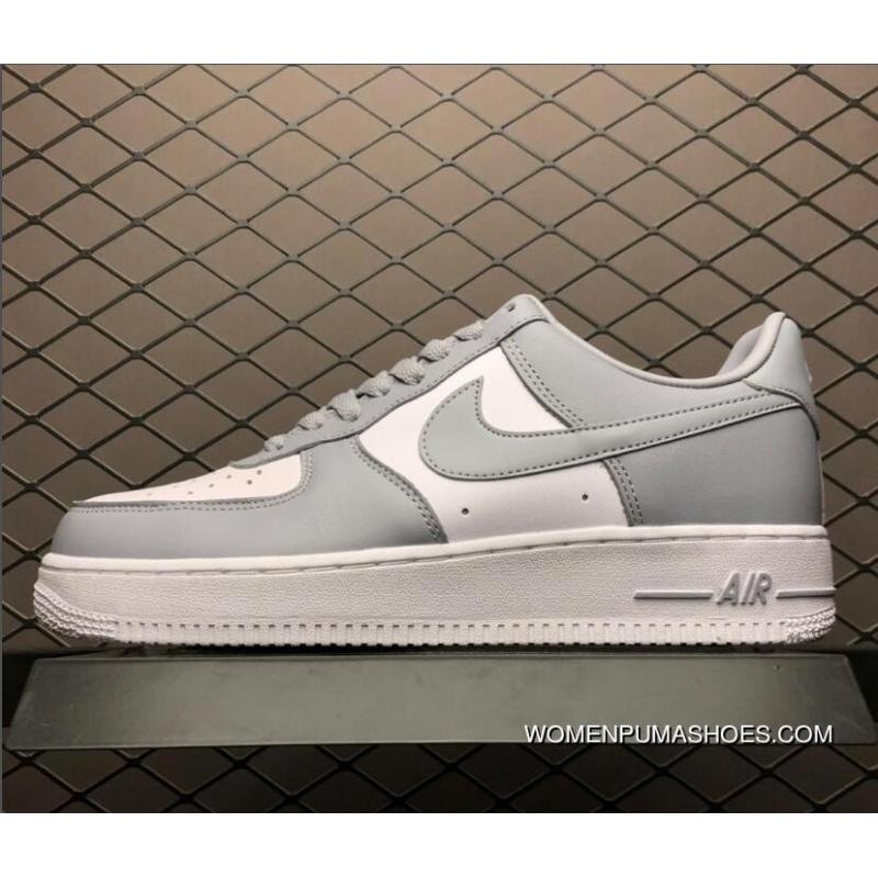 Nike Air Force One Af1 Low White Wolf Grey Men's Shoes AQ4134 101 Online