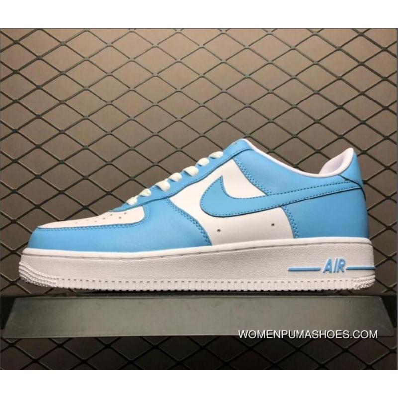 Men's Nike Air Force One Low Blue Gale White AQ4134 400 New Release