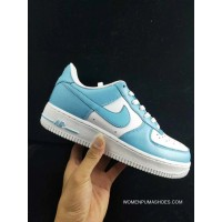 Wwp Nike Air Force One Men Shoes Blue White Men Low Sneakers AQ4134-400 Size Gold New Style