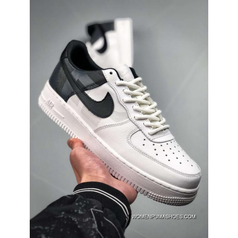 sports shoes 6caf6 5ea33 Nike Air Force 1 AV8363-100 Women/Men White/Black Discount