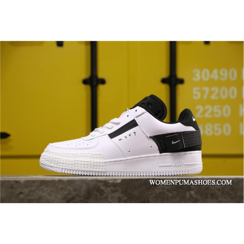 Women/Men New Release Nike Air Force One Low Type White Black