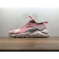 Nike Air Huarache Pig Leather Material Running Shoes Women God Pink 829669-669 Discount