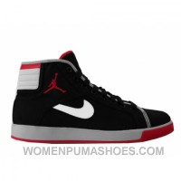 Air Jordan Sky High Canvas Black Varsity Red White Cement Grey 407282-001 For Sale