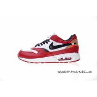 Independent Brand Creative Customized Virgil Abloh Designers OFF White Nike Air Max 1 X OG Retro Zoom Jogging Shoes Bulls Red Black White 537383-122 Top Deals