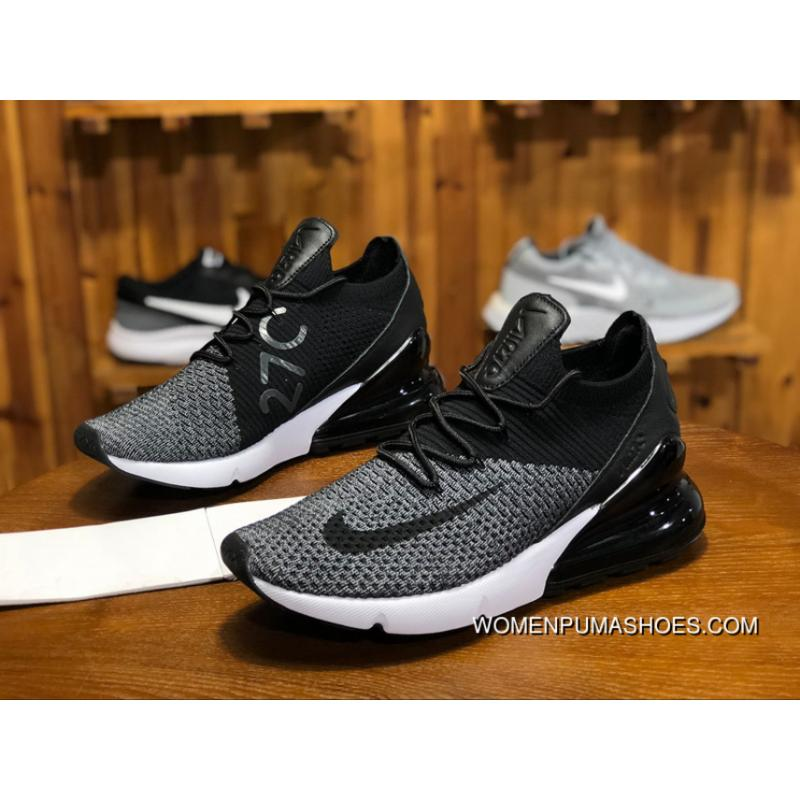 200 Nike AIR MAX270 FLYKNIT Series Zoom Running Shoes Women Shoes And Men Shoes Casual Mesh Breathable Sport AO10253 001 Size New Release