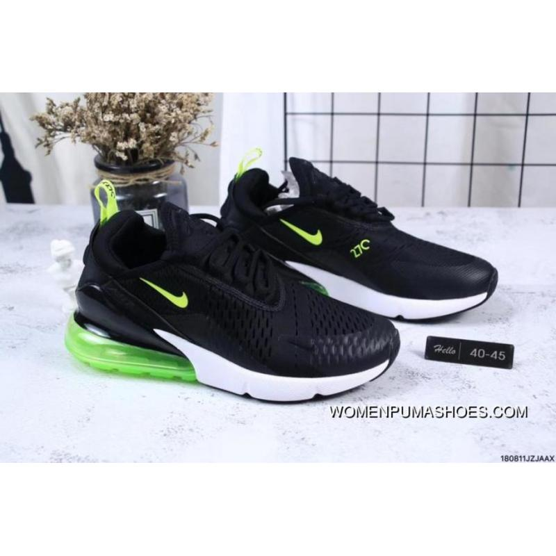 Nike Jacquard Air Max 270 Flyknit Half palm Cushion Black Green New Style