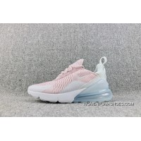 Nike Air Max 270 Overseas Version Of The New Heel Half-palm As Jogging Shoes Pink White AH6789-602-18 Outlet