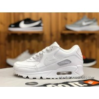 Nike Air Max90 Pure White Leather Women Zoom Casual Shoes Running Shoes 302519-113 Size Free Shipping