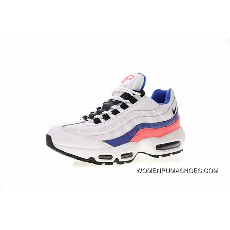 Men Shoes Nike Air Max 95 Essential Series Retro Zoom Jogging ShoesOG White Blue Pink 749766 106 For Sale