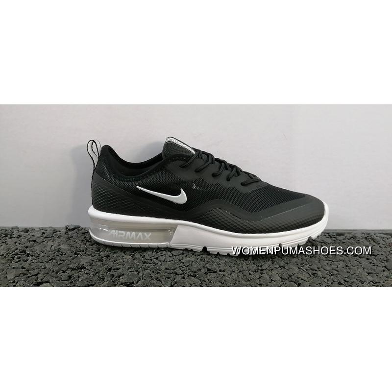 Men Shoes Nike Air Max Sequent After Zhang Zoom New Technology Cushioning Running Shoes Black White SKU BQ8822 001 40 44 Outlet