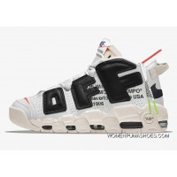 Off-White X Nike Air More Uptempo Black White For Sale