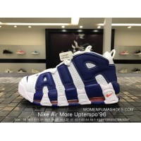 Nike Authentic Air More Uptempo96 Blue Buckle Broken Big Air Pippen Basketball Shoes 921948-101 Best