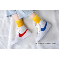 Nike Blazer Mid X Reigning Champ Women And Men Couple Blue Glue Grey Black Fashion Casual Shoes Super Deals