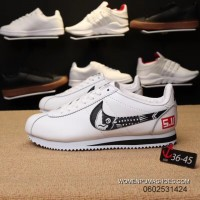 Nike Cortez Action Leather Surface Graffiti Women And Men Running Shoes Best