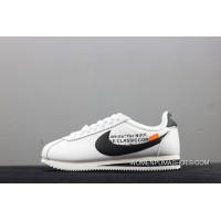 OFF-WHITE X Nike Classic Cortez Collaboration Casual Sport Shoes 807471-101 New Release