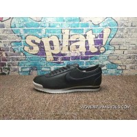 All Full Grain Leather Soft Napa Leather Nike Cortez 72 Cortez Series Retro All-Match Jogging Shoes All Black Electronic Embroidery Hook White At The End Of 881205-001 Super Deals