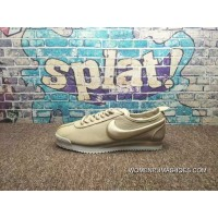 Nike Cortez Full Grain Leather Napa Leather Embroidery Cortez 72 Si Classic Retro Running Shoes 881205 101 New Style