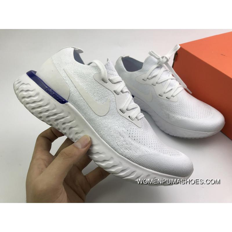 64253d00b2d7b USD  88.55  221.39. Nike React White Epic React Flyknit Prepare Surface  Super Running ...