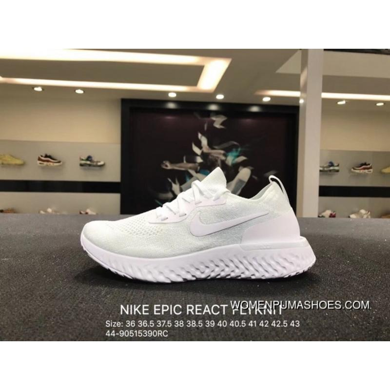 fb80579fd1be USD  88.66  239.39. Nike EPIC REACT FLYKNIT REACT Knit Elastic Running  Shoes Size ...