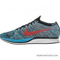 Nike Flyknit Racer (Mens) - Neo Turquoise/Glacier Ice/Bright Crimson Best