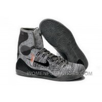 Buy Cheap Nike Kobe 9 2014 High Top Grey Black Mens Shoes New Release 2W3nS