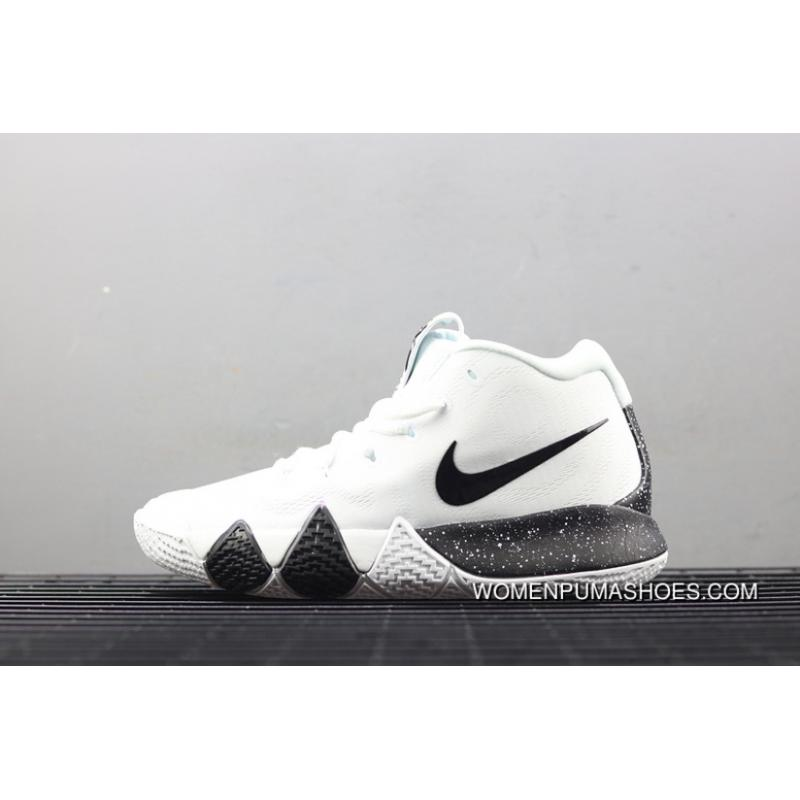 super popular a3140 f0f21 Nike Kyrie 4 Irving 4 White Black Inkjet Colorways Basketball Shoes  943807-930 New Style
