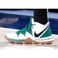 "Nike Kyrie 5 ""Celtics"" PE White Green Kyrie Irving"
