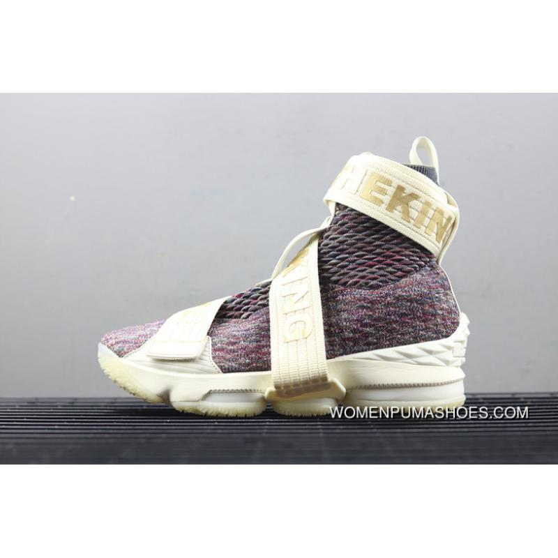 Nike LeBron Xv Lif Kith Stained Glass James 15 Collaboration Bind The Ball Shoes Support Battle Ao1068 900 Best