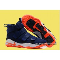 Nike LeBron Soldier 11 Deep Blue And Orange Outlet