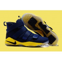 Nike LeBron Soldier 11 Deep Blue And Yellow Super Deals