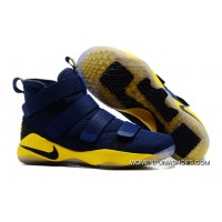 2017 Nike LeBron Soldier 11 Deep Blue Yellow Discount