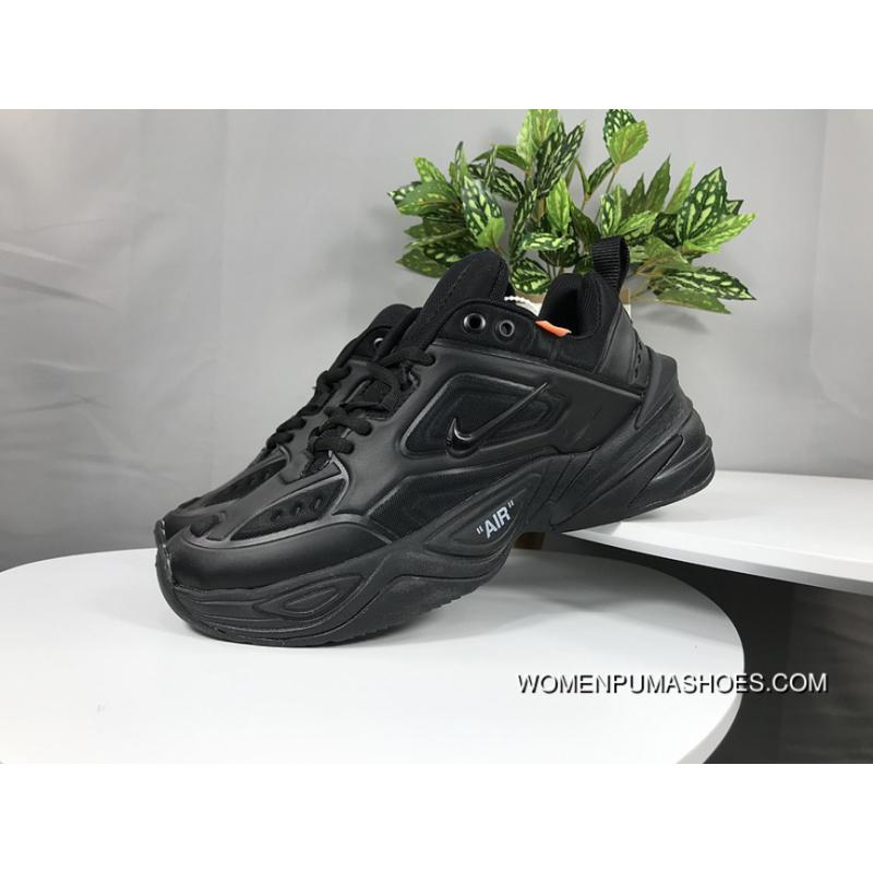Nike Dad Sneakers Clunky Sneaker Dad Shoes AO3108 101 Air Monarch The M2K  Tekno Collaboration All Black New Style