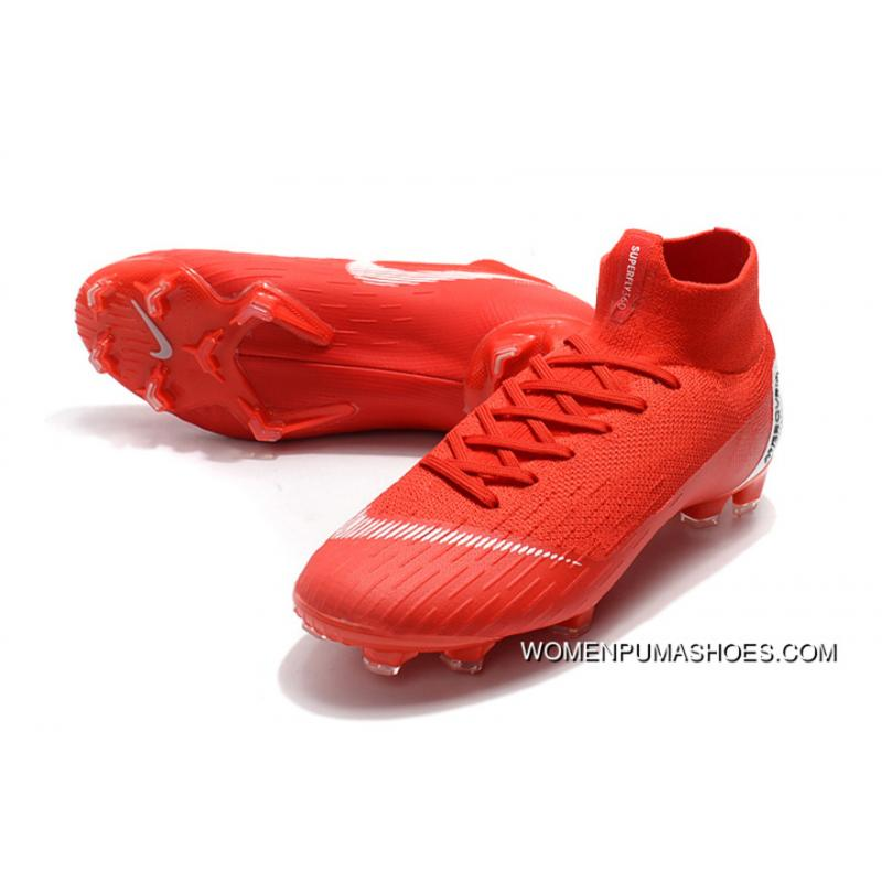 finest selection 9deb3 a7e5c Nike Mercurial 12 Electroplating High Knitting Flyknit 360 Technology  Waterproof Fg Nail Soccer Shoes Mercurial Superfly VI 360 Elite Neymar Fg  Free ...