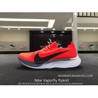 Nike Authentic Vaporfly Flyknit 4 Flyknit Marathon Super Running Shoes Orange Red Black Grey White AJ3857-601 Size Best