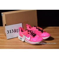 Off-White Nike Zoom Fly Pink AJ4588-600 SP OW Limited Marathon Light Breathable Fly General Feeling For Sale